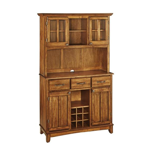 HOMESTYLES Cottage Oak Buffet with Hutch