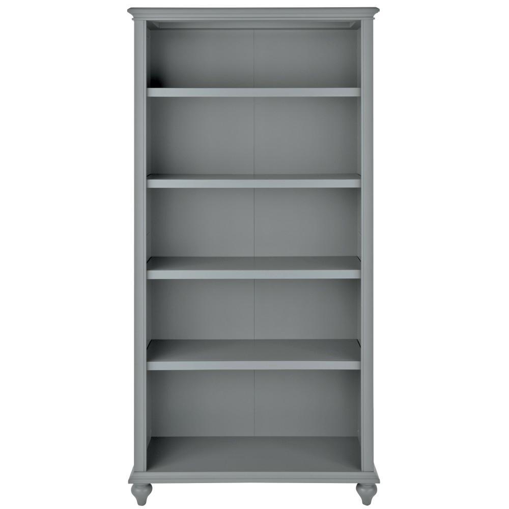 Hamilton 5-Shelf Grey Open Bookcase