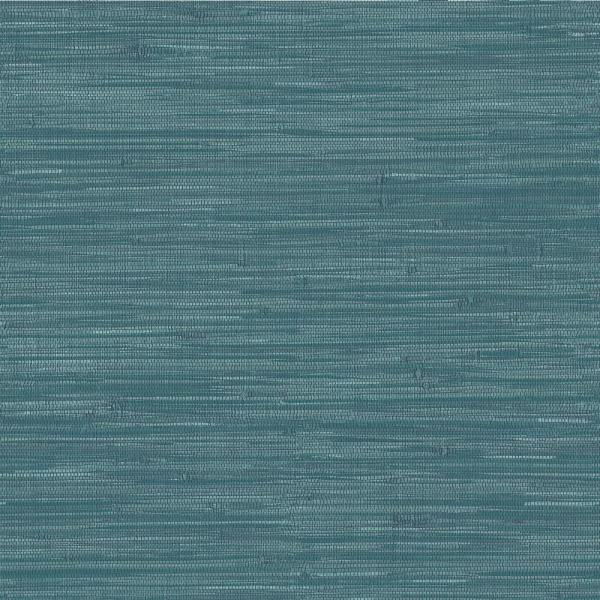 Nuwallpaper Navy Grassweave Textured Vinyl Strippable Roll Covers 30 75 Sq Ft Nu2874 The Home Depot