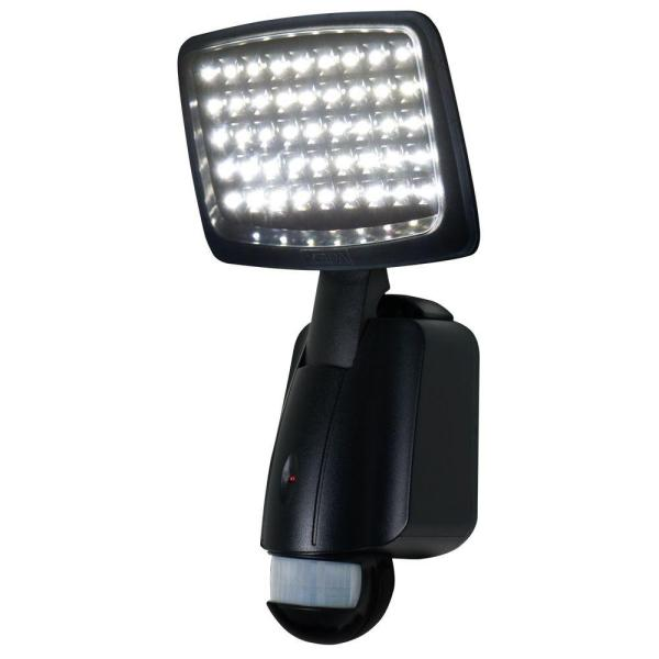 160 Degree Outdoor Motion Activated Solar Powered Black LED Security Light