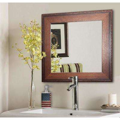 25.5 in. x 25.5 in. Timber Estate Square Vanity Wall Mirror