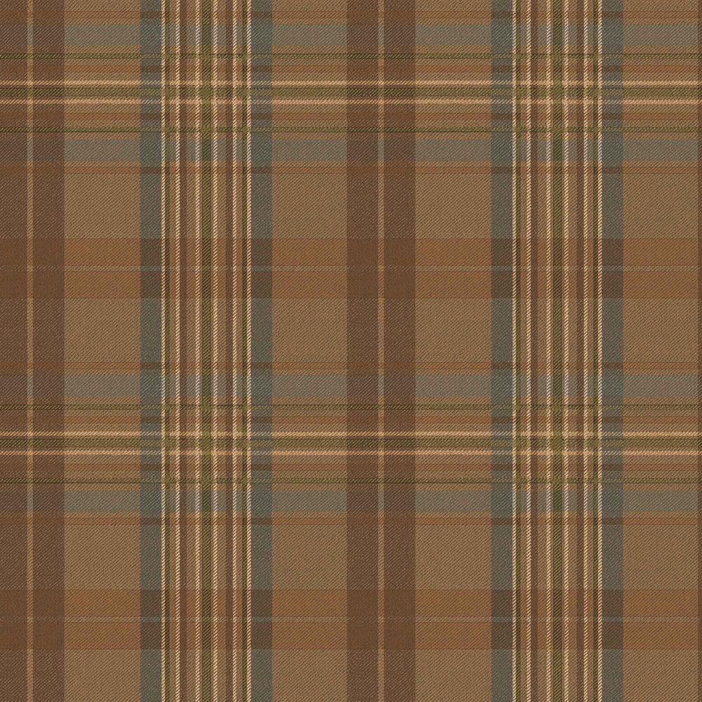 Checkered Wallpaper: Chesapeake Austin Blue Plaid Wallpaper Sample-MAN33023SAM