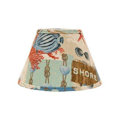 4 in. x 5.25 in. Multi-Colored Lamp Shade
