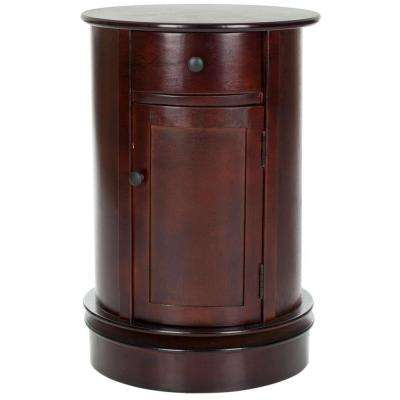 Tabitha Dark Cherry Storage End Table