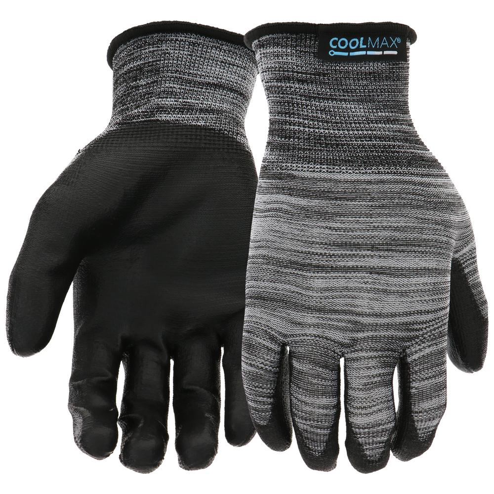 West Chester Men's Large PU Dipped Coolmax Gloves (10-Pack)