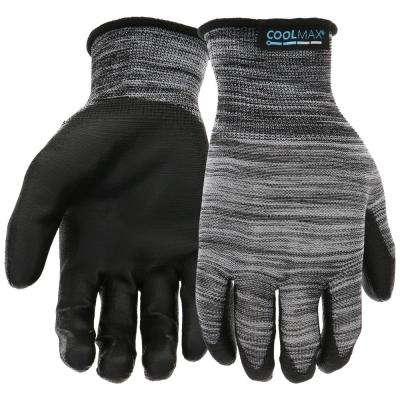 Men's Large PU Dipped Coolmax Gloves (10-Pack)