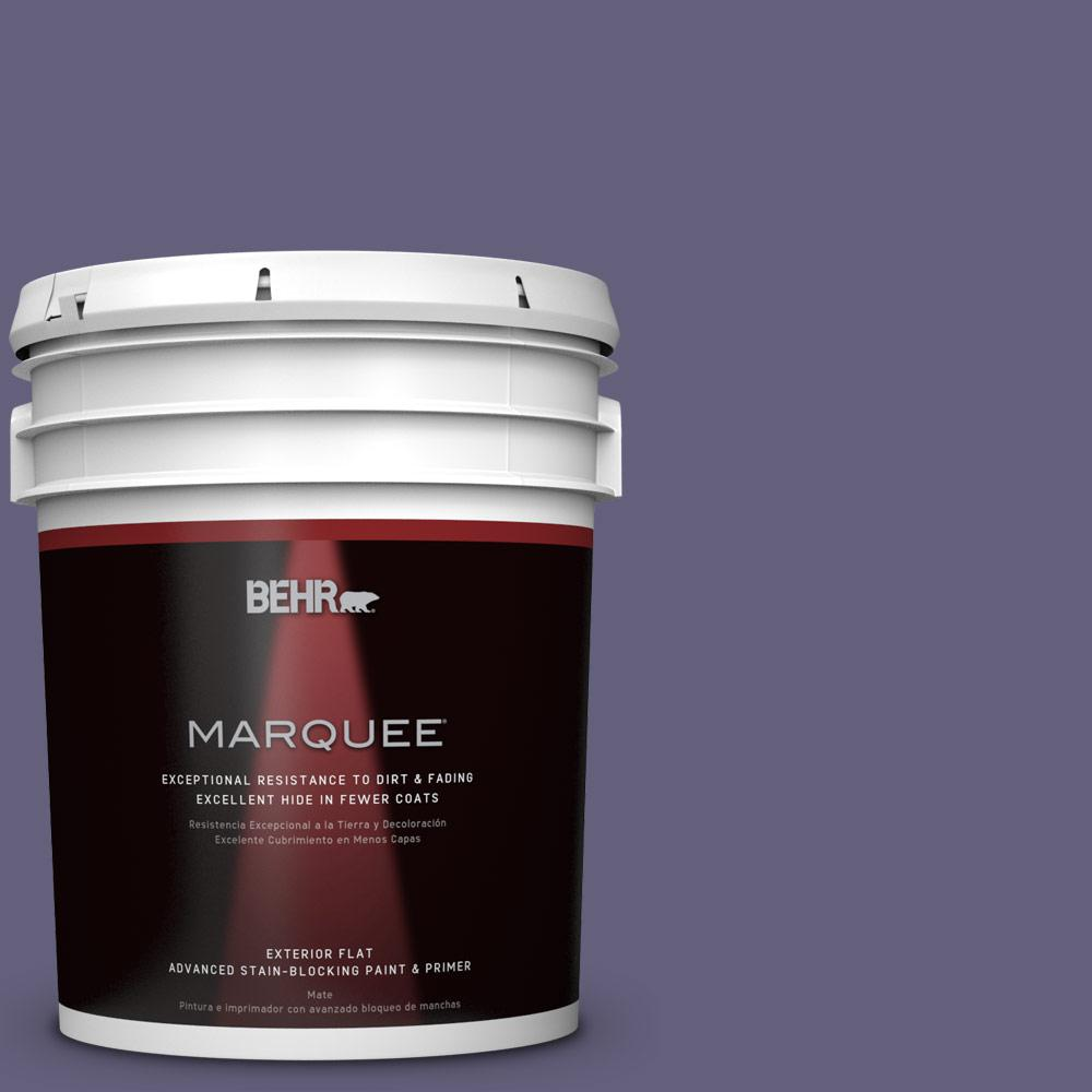 BEHR MARQUEE 5-gal. #PMD-44 Twilight Dusk Flat Exterior Paint