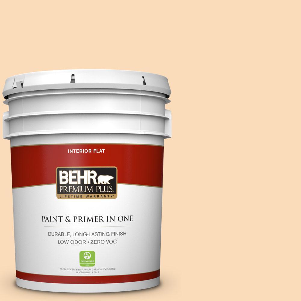 BEHR Premium Plus 5-gal. #P220-2 Peche Flat Interior Paint