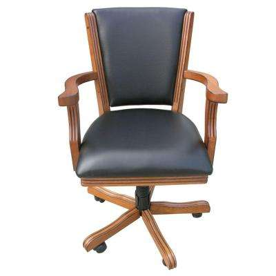 Kingston Oak Poker Table Arm Chair (Set of 4)