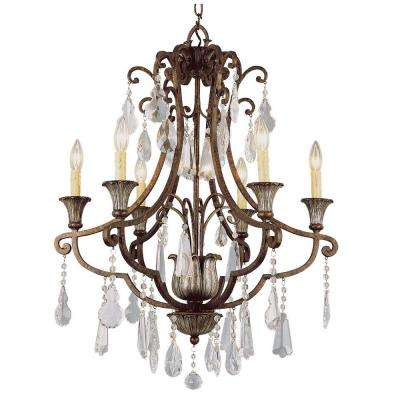 Cabernet Collection 6-Light Antique Bronze Chandelier