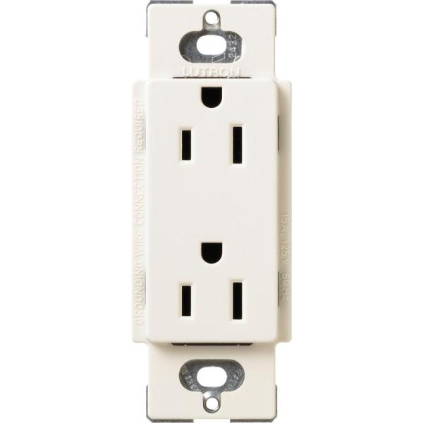 Claro 15 Amp Duplex Outlet, Biscuit