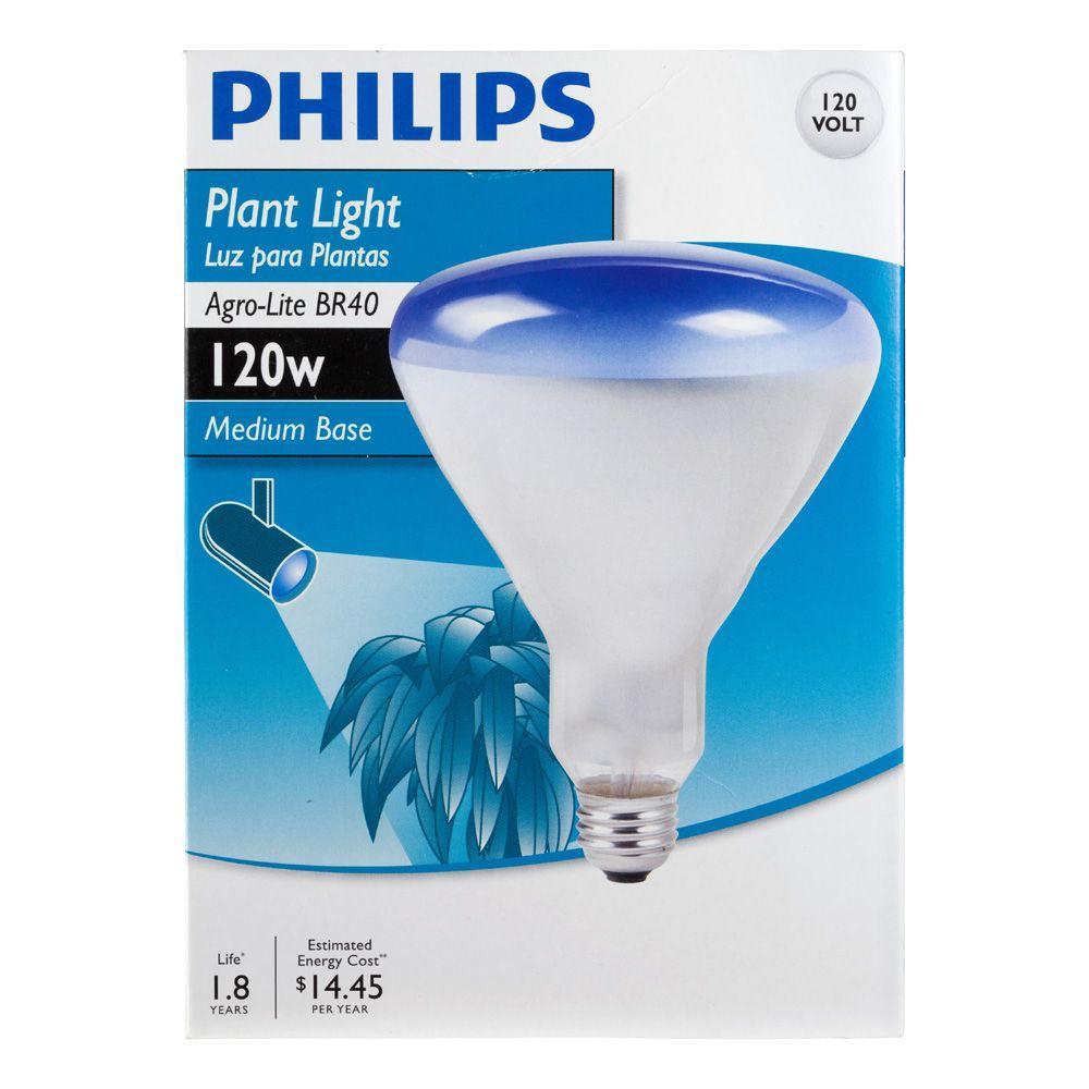 Philips 120 Watt Br40 Agro Plant Flood Grow Light Bulb 415307 The Home Depot
