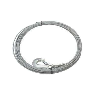 35 ft. x 5/32 in. Galvanized Steel Wire Rope with Hook