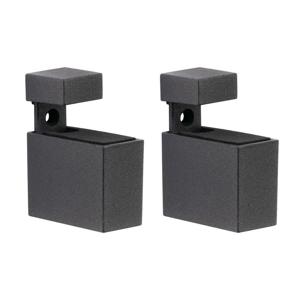 Cuadro 3/16 in. - 3/4 in. Adjustable Shelf Support in Black