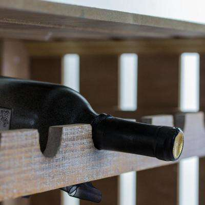Rustic Wooden Crate 14-Bottle Wine Rack