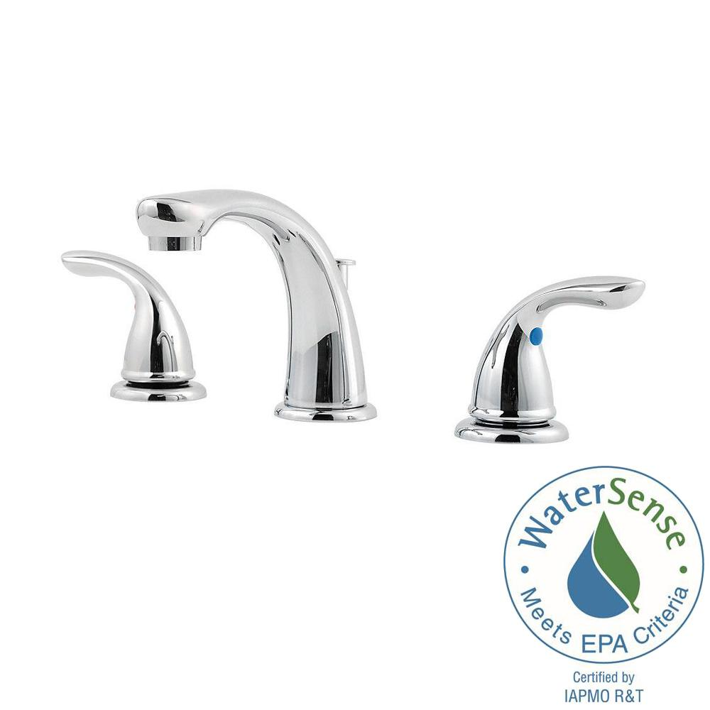Pfister Widespread Bathroom Chrome Faucet, Chrome Widespread ...