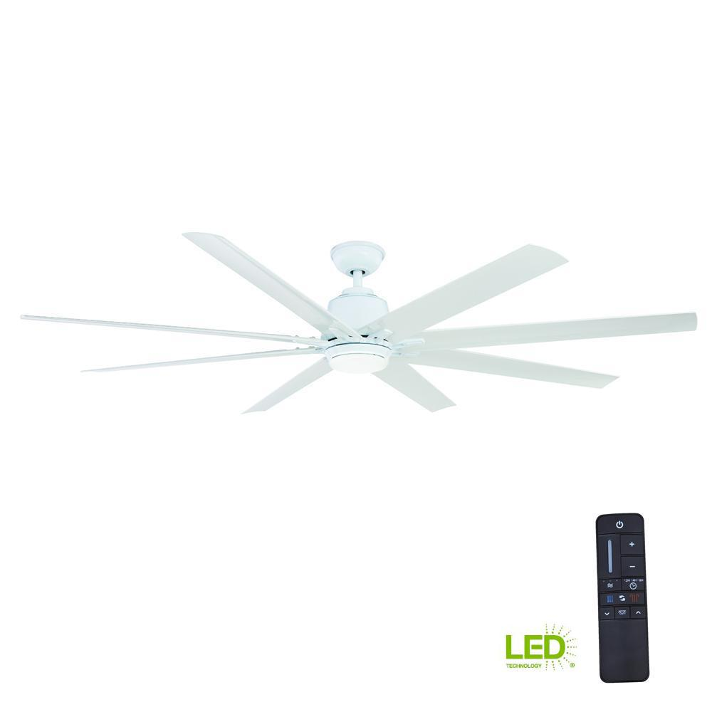 Home Decorators Collection Kensgrove 72 in. LED Indoor/Outdoor White ...