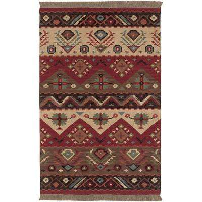 Megan Red 5 ft. x 8 ft. Area Rug