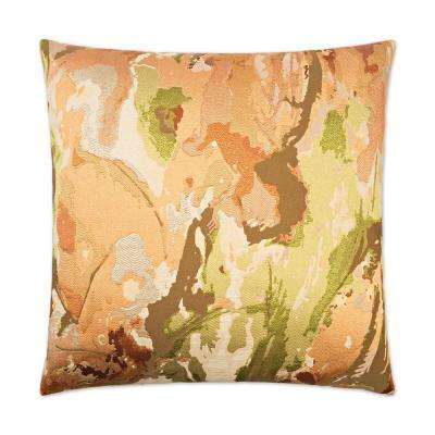 Contraption Orange Feather Down 24 in. x 24 in. Standard Decorative Throw Pillow