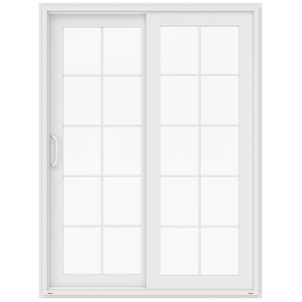 60 x 80 patio doors exterior doors the home depot 60 in x 80 in v 4500 white vinyl left hand 10 rubansaba