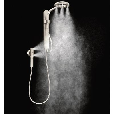 Nebia by Moen 1-Spray 8 in. Dual Shower Head and Handheld Shower Head with Magnetic Dock in Spot Resist Brushed Nickel