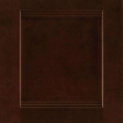 14-1/2x14-9/16 in. Cabinet Door Sample in Del Ray Cherry Java
