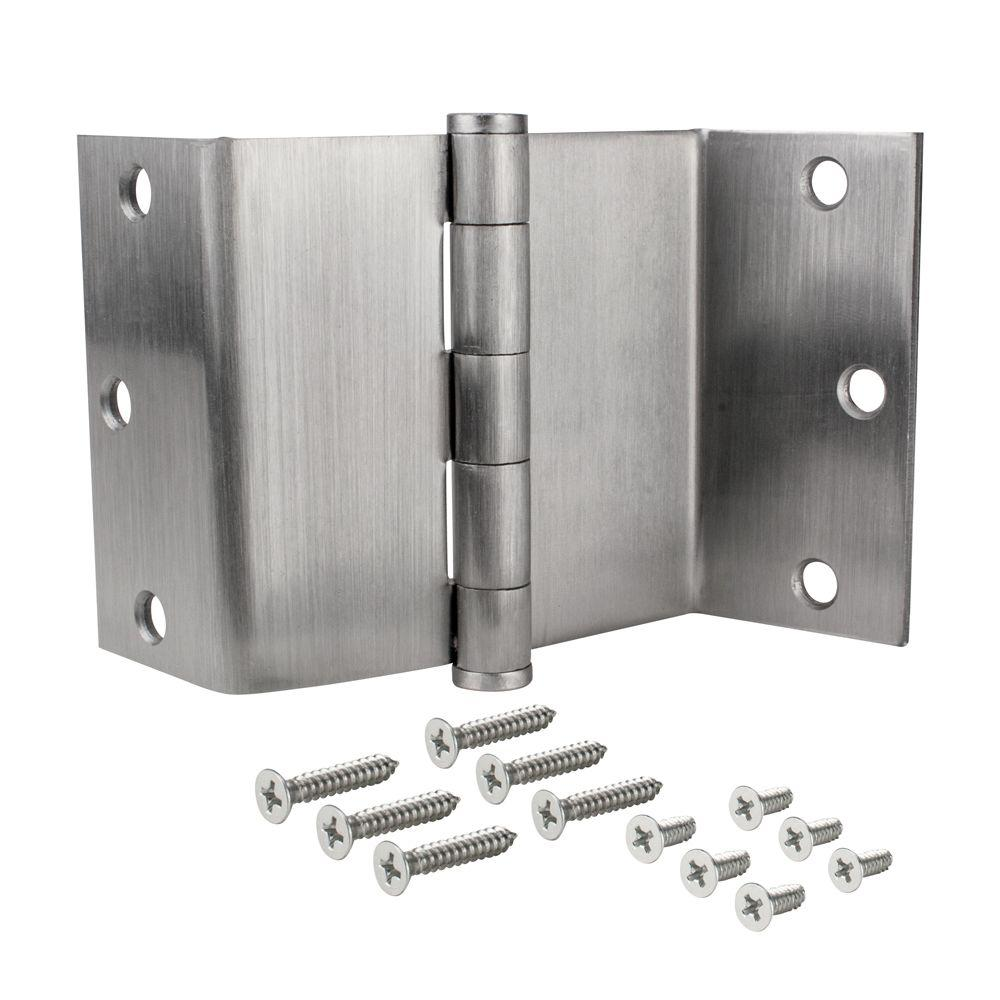 Swing Clear Door Hinge In Satin Chrome