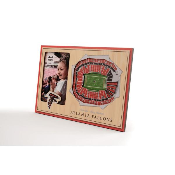 new product 2e920 d5e60 NFL Atlanta Falcons Team Colored 3D StadiumView with 4 in. x 6 in. Picture  Frame