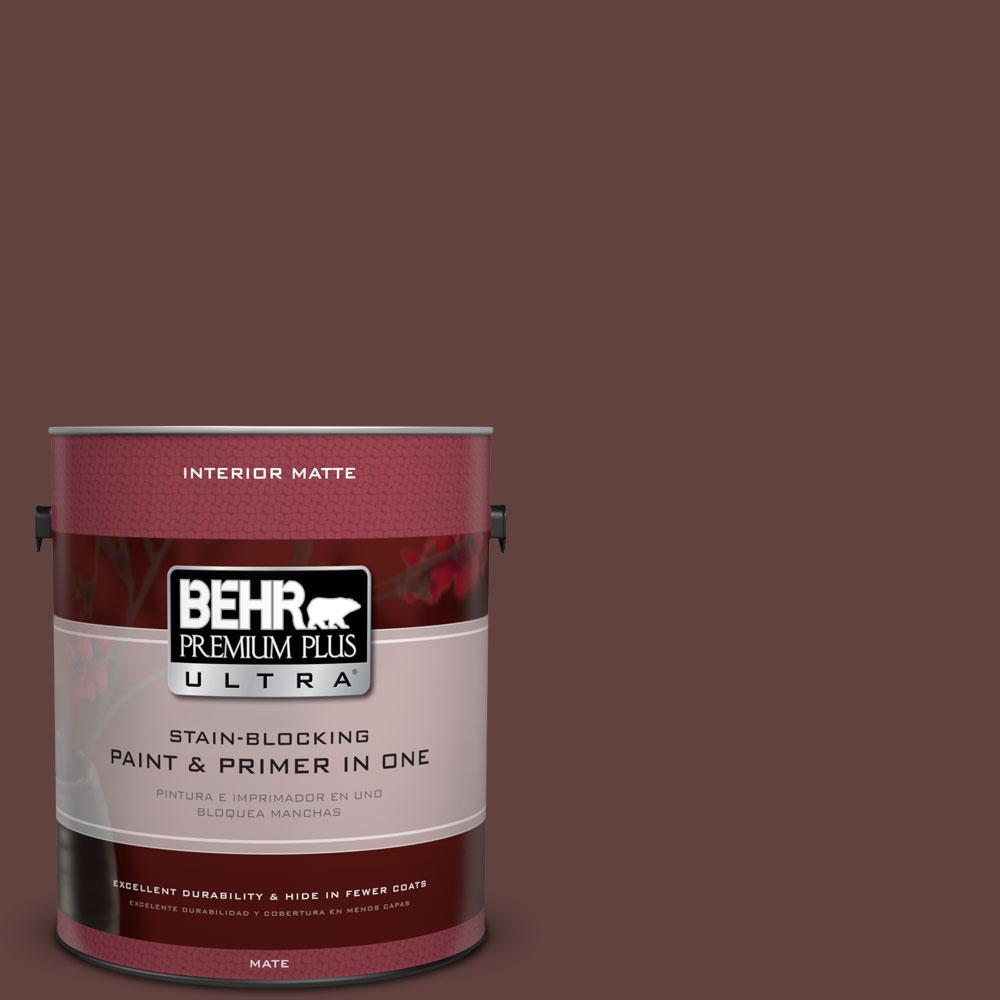 1 gal. #PMD-62 Black Plum Flat/Matte Interior Paint