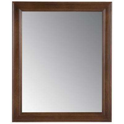 Glensford 26 in. x 31 in. Single Framed Wall Mirror in Butterscotch