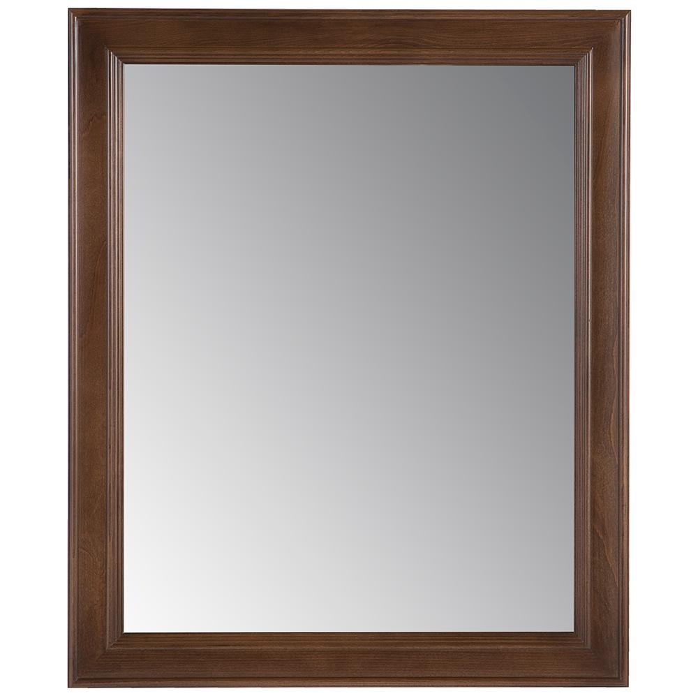 Glensford 26 in. x 31 in. Single Framed Wall Mirror in
