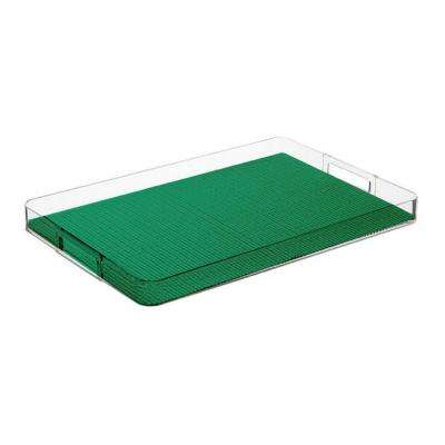Fishnet Emerald Rectangular Serving Tray