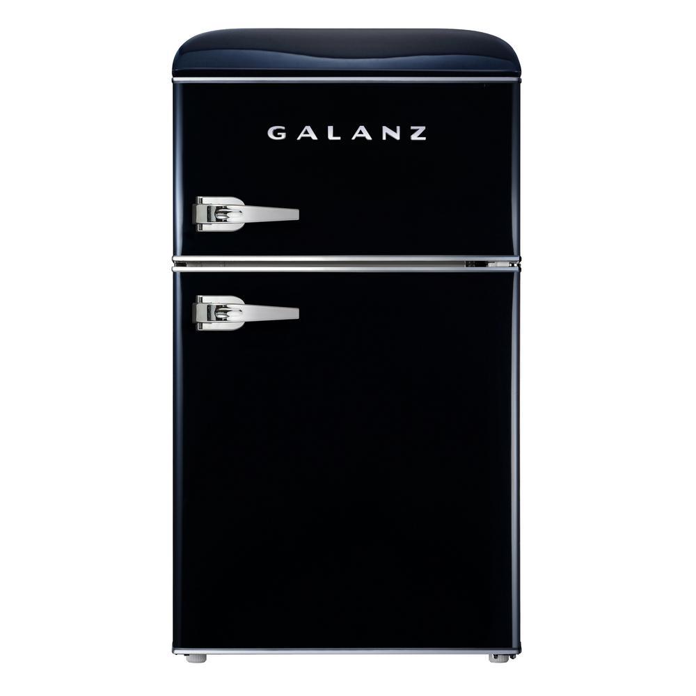Galanz 3 1 Cu Ft Retro Mini Fridge With Dual Door True