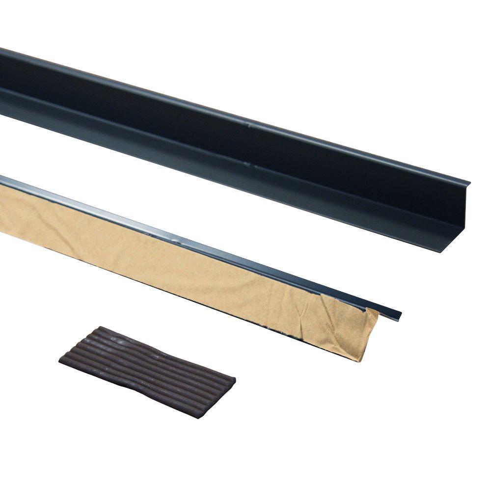 36 in. Brown Aluminum Doorbrella and Putty Seal (2-Pieces)