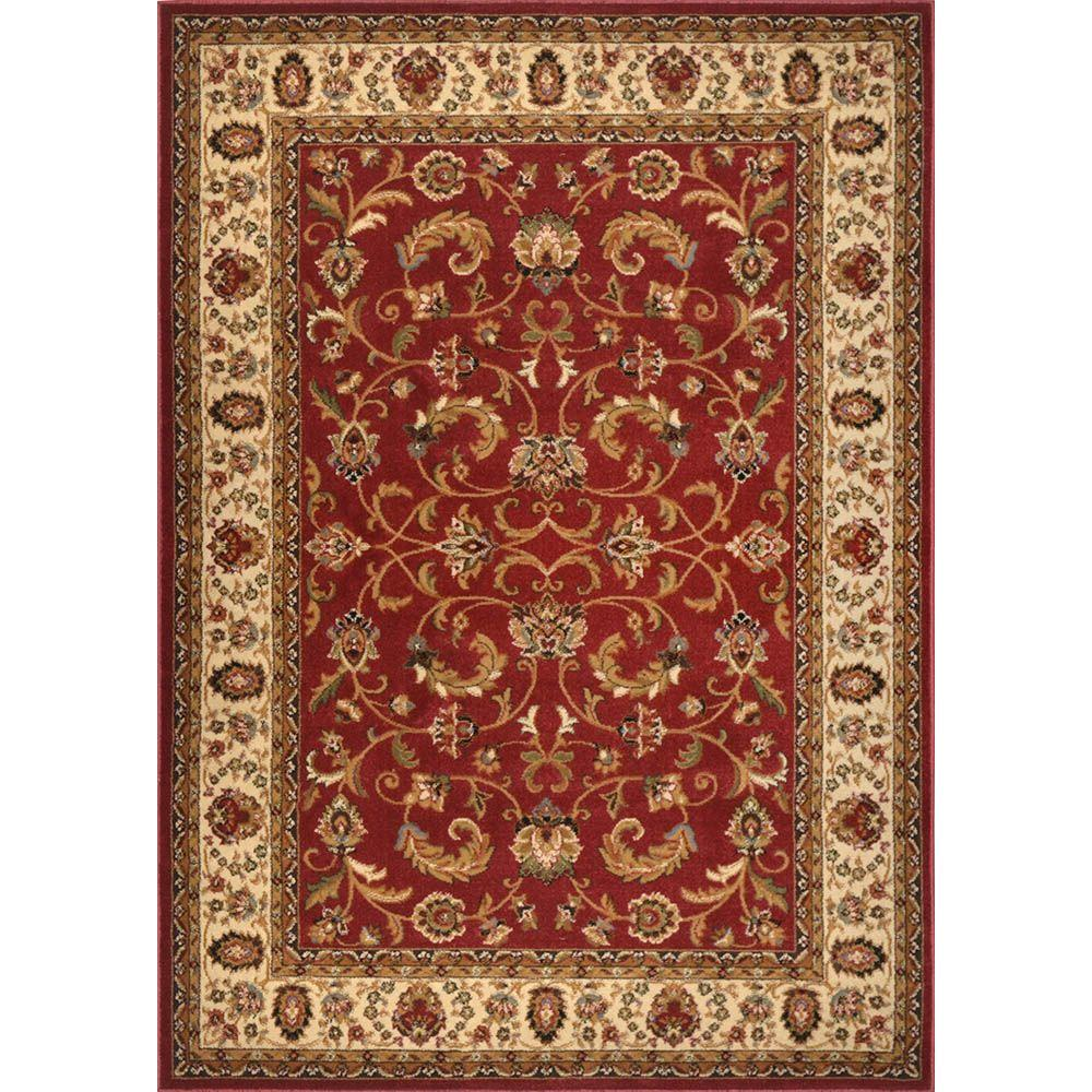 Home Dynamix Royalty Red Ivory 5 Ft X 7 Indoor Area Rug