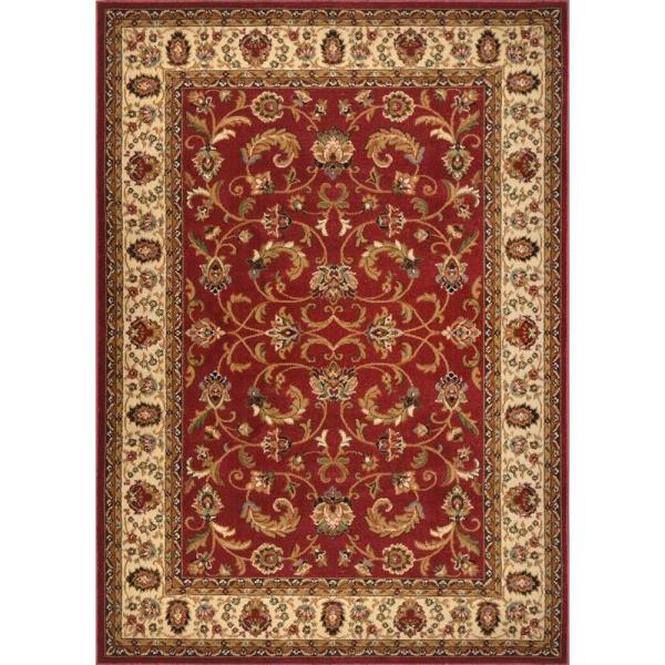 Home Dynamix Royalty Red Ivory 5 Ft X