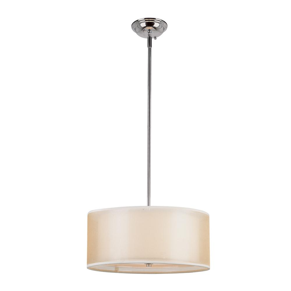 Sandy 3-Light Polished Chrome Pendant