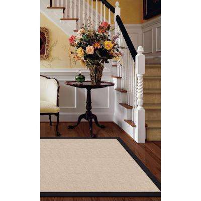 Athena Natural and Black 10 ft. x 13 ft. Area Rug