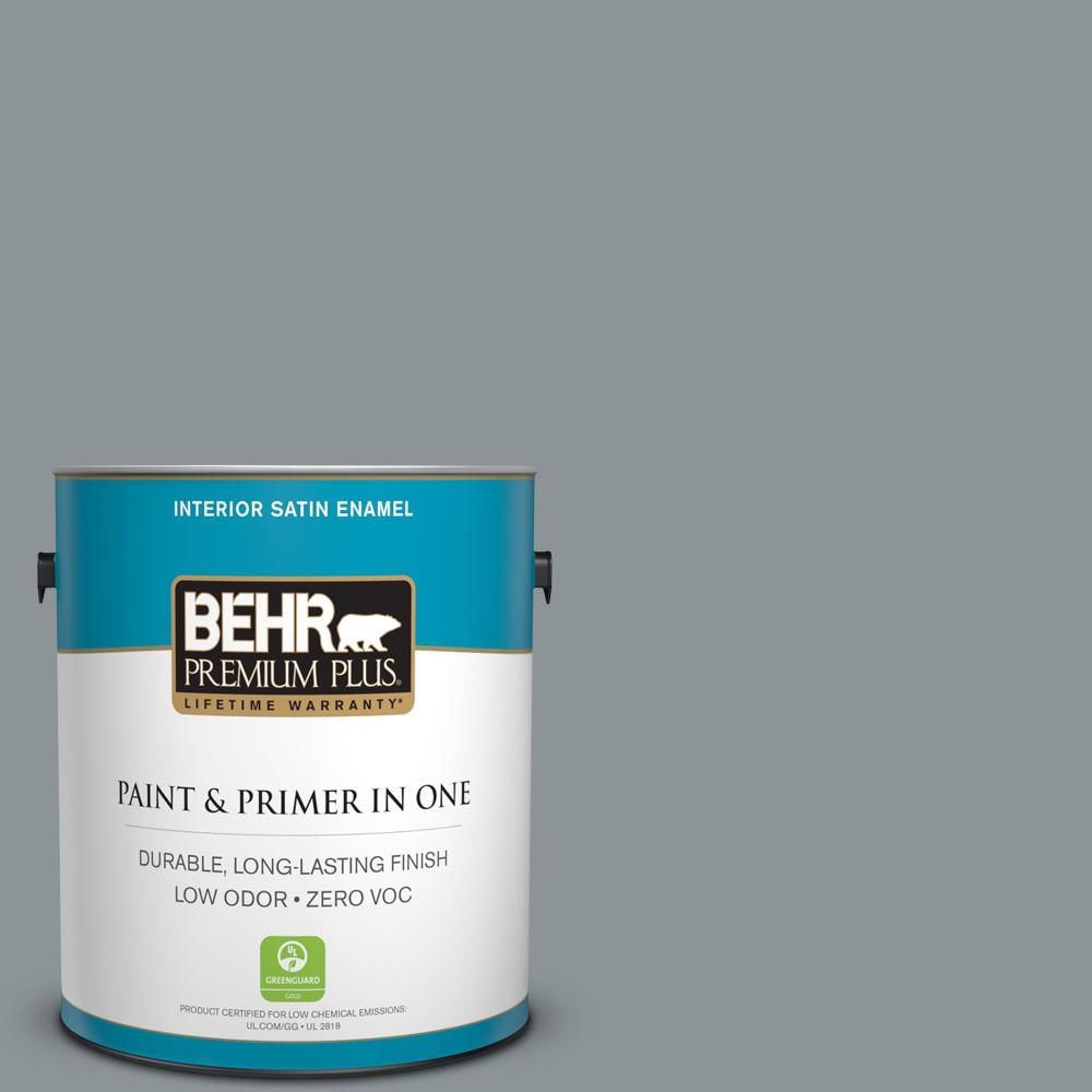 BEHR Premium Plus 1-gal. #N450-4 Moonquake Satin Enamel Interior Paint