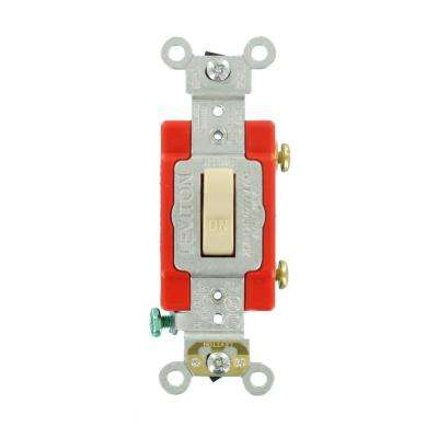 20 Amp Industrial Grade Heavy Duty Single-Pole Lighted Handle Toggle Switch, Ivory