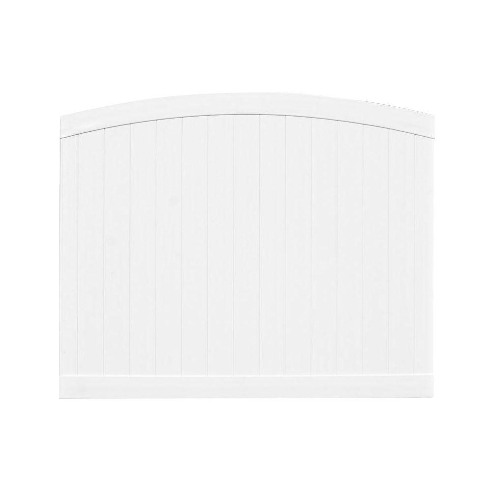 Veranda Pro-Series 6 ft. H x 8 ft. W White Vinyl Woodbridge Arched Privacy Fence Panel