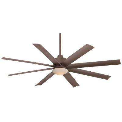 Slipstream 65 in. Integrated LED Indoor/Outdoor Oil Rubbed Bronze Ceiling Fan with Light with Remote Control