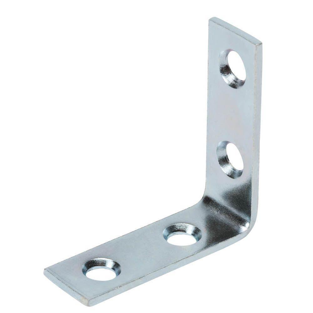 1-1/2 in. Zinc-Plated Corner Brace (4-Pack)