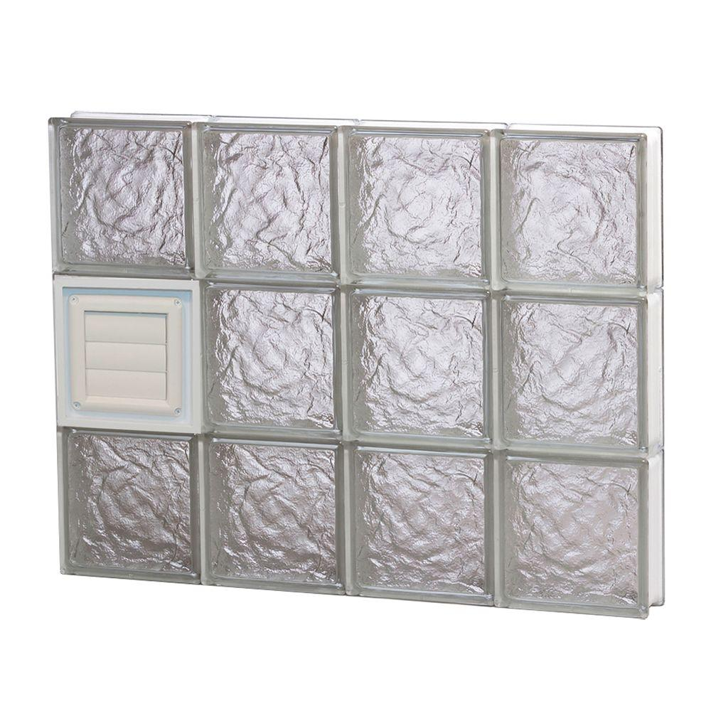 glass block window vent replacement turbovisas clearly secure 31 in 2325 3125 frameless ice pattern