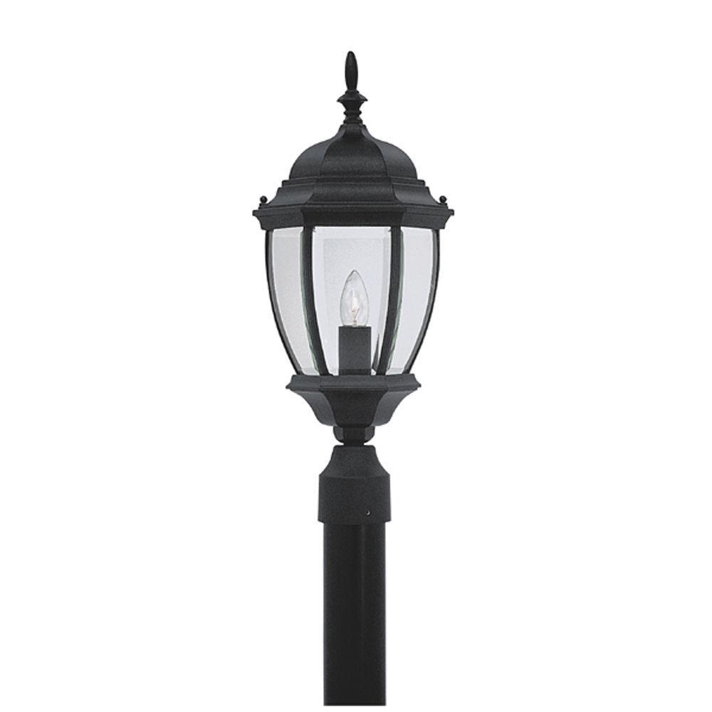 Hallowell Collection Outdoor Black Post Lantern