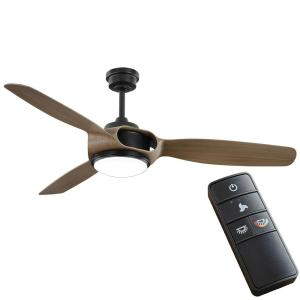 Sedgewood 60 in. White Color Changing Integrated LED Matte Black Ceiling Fan with Light and Remote Control