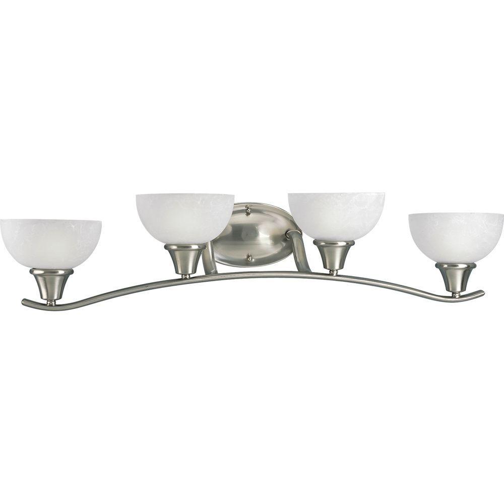 Progress Lighting Sentura Collection 4-Light Brushed Nickel Vanity Fixture