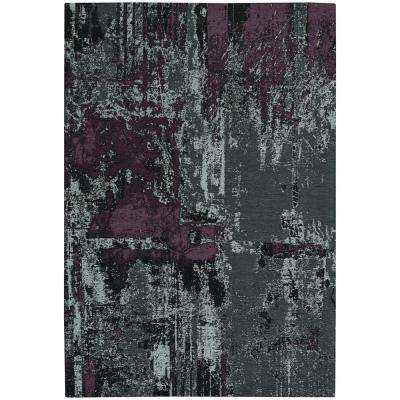 Celestial Abstract Smoke Violet 5 ft. x 8 ft. Area Rug