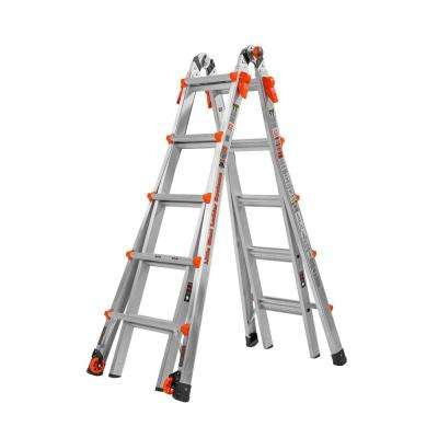 LT 22 ft. Aluminum Multi-Position Ladder with 300 lbs. Capacity Type IA