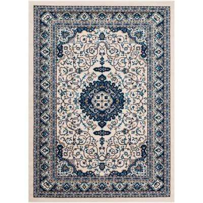 Elias Ivory 7 ft. 10 in. x 10 ft. 3 in. Oriental Area Rug